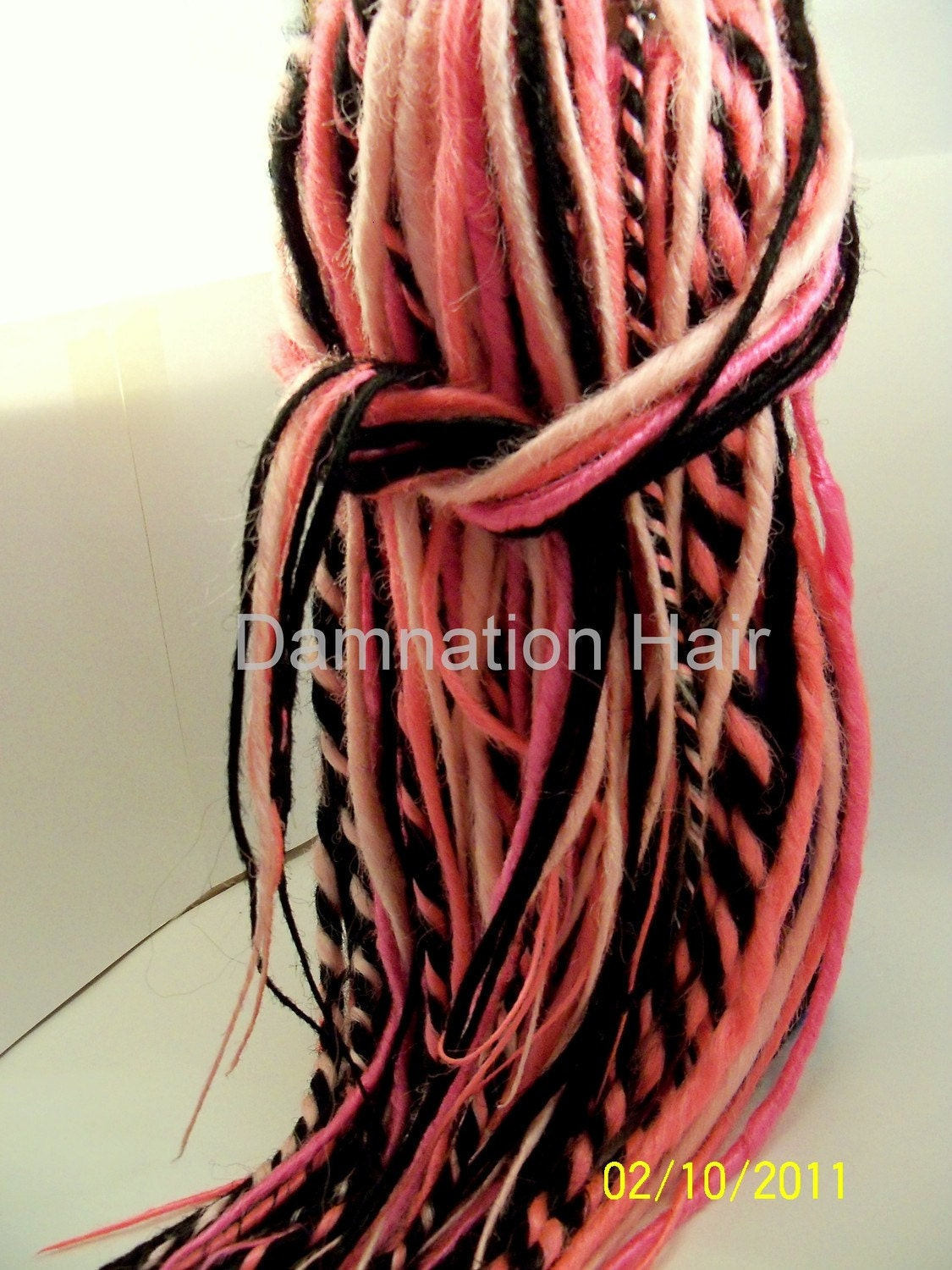 how to make natural hair diy cornrow low bun : 80 Synthetic Dreads Hot Pink Black Dreadlock Hair Extensions