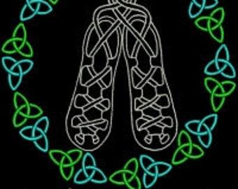 Irish Dance T shirt with Swarovski Crystals and Personalization