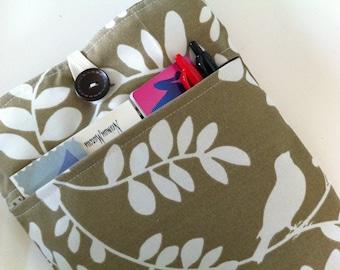 MacBook Air 11 Case / 11 inch MacBook Sleeve Case / 11 Mac Air Sleeve BONUS Front Pocket (Artistic Brown Leaf) Water Resistent Fabr