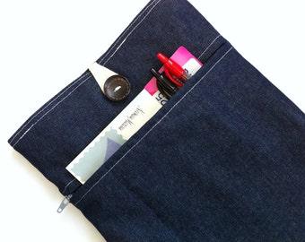 Mac Air 13 Case - MacBook Air 13 Case Sleeve Padded BONUS Front Pocket (Dazzling Denim)