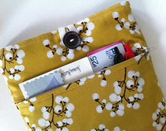 iPad Case, iPad Sleeve, iPad Cover, Zippered Pocket and Padded for any iPad (Mustard Cherry Blossoms)