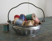 Antique Small Silverplate Basket