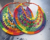 rainbow colors crochet hoops perfect for spring and summer