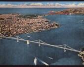 1940s Jumbo SAN FRANCISCO Linen POSTCARD (Unused)