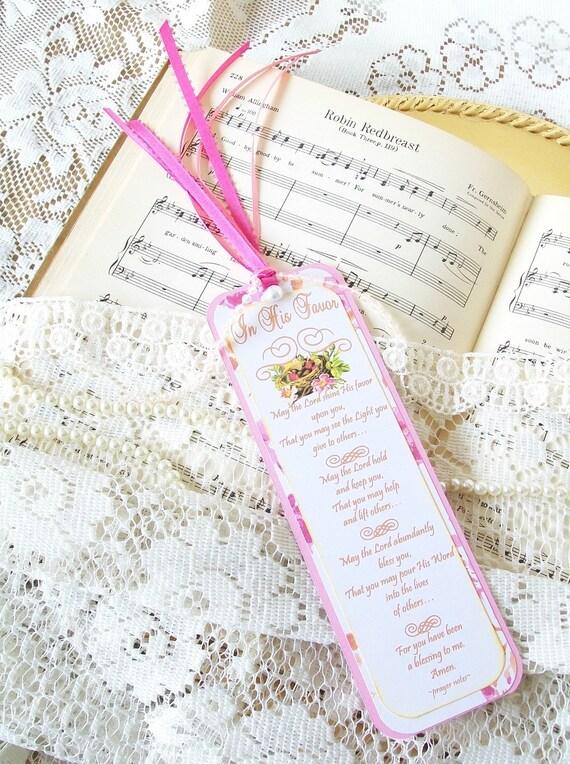 Handmade Paper Bookmark Religious Spiritual Prayer Bookmark