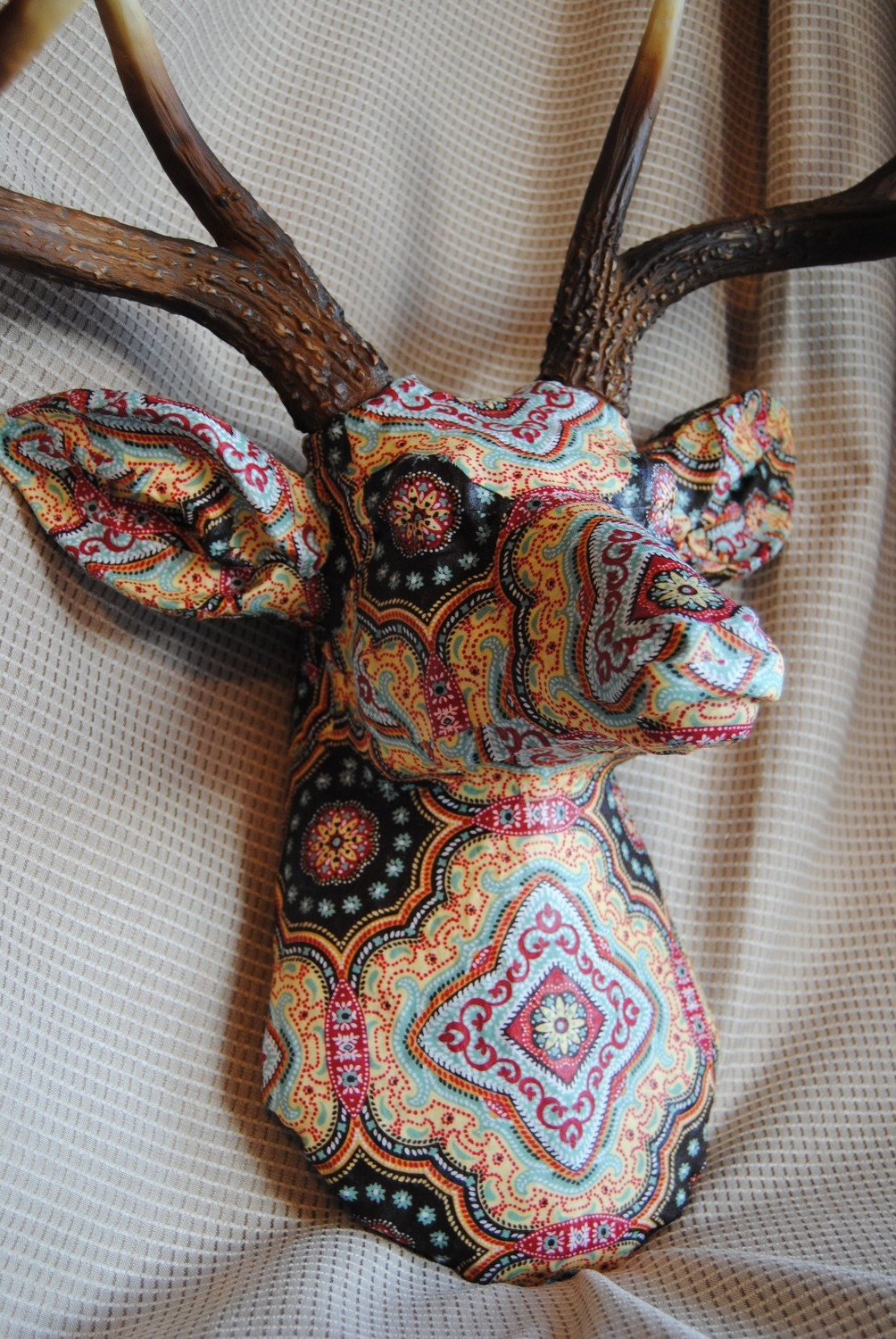 Fabric Deer Head Wall Mount
