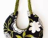 Green and black full moon bag