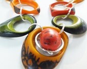 hollow tagua necklace