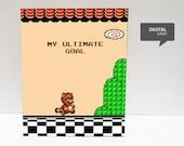 Super Mario 3 Tanooki  Valentine's Day Love Printable Card