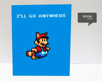 Super Mario  Valentine's Day Love Printable Card