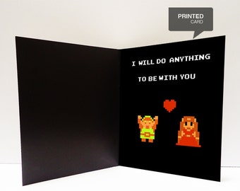 Zelda Love Printed Card