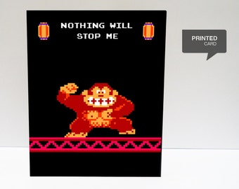 Donkey Kong Love Printed Card