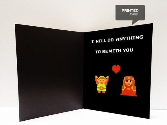 Zelda Love Printed Card