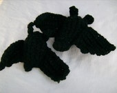 BAT Amigurumi Plush Spooky Crochet Animal Black Gothic Halloween Winged Creature