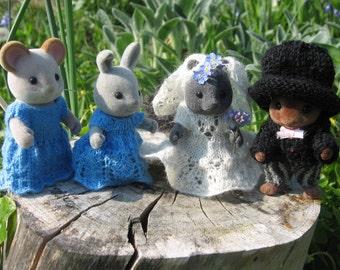 "PDF Knitting pattern Sylvanian Families/Calico Critters: ""Wedding"" Decoration Decor"
