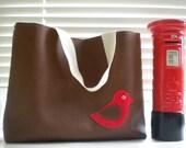 reserved for Lauren Miss Red Birdie Bird -Shoulder / Tote Bag