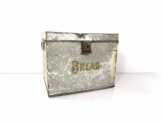 Vintage Metal Bread Box