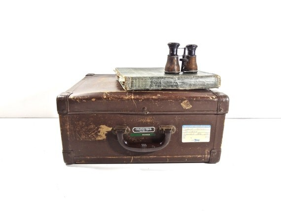 Vintage Brown Salesman Sample Travel Case