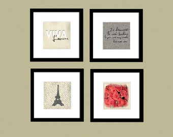 Shabby Chic Collection: Set of (4) 5x5 prints, Buy 3 Get 1 Free
