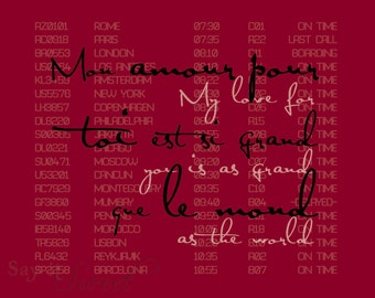 My love for you is as grand as the world, 8x10 poster (Departures, in Bordeaux) BUY 3 GET 1 FREE