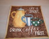 Coffe Themed Mug Rug/Candle Mat