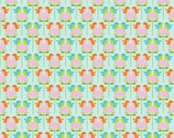 Riley Blake Designs Happier by Denna Rutter. 100% cotton pattern C5504 Blue - Happier - Birds