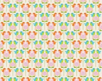 Riley Blake Designs Happier by Denna Rutter. 100% cotton pattern C5504 White - Happier - Birds