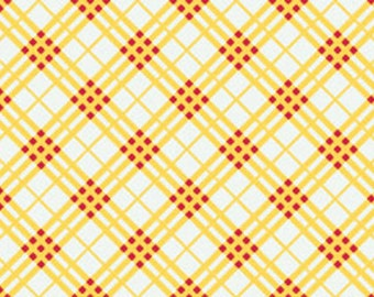 Hoo's In The Forest - by Doohikey Designs for Riley Blake Designs - C2565 Yellow - Plaid