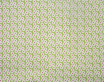 Summer Song - by My Mind's eye for Riley Blake Designs - Pattern C7055 Green Summer Mini Blooms.