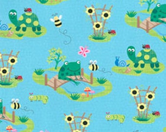 Critters Collection by Ellen Crimi-Trent for Clothworks - Blue Frogs Y0809-29
