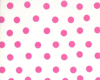 Welcome to Bear Country by the Berenstains - Pink Dots on White 55506-14 Moda