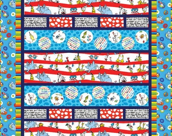 Seuss Let's Party Quilt Kit Modified for Twin Size - Pattern by Hedi Pridemore