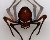 Spider, 3D, Metal Art, Office, Home, Wall Decor, Gothic, Metal Spider