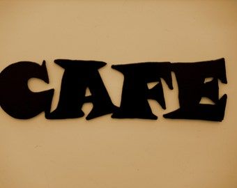 Metal Wall Art Decor Cafe Word Kitchen, FREE SHIPPING