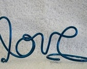 LOVE.....Handcrafted Wire Wedding Cake Topper or Wedding Centerpiece or Decoration....Lot 87