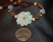 Jade Flower Bracelet  Cord
