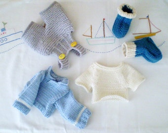 Blue for a boy - a few knitted clothes patterns