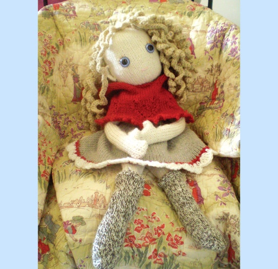 Pixie Moon's - knitted Heidi dress and little red winter hood