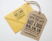 Set of 100 Wedding Save The Date Tags