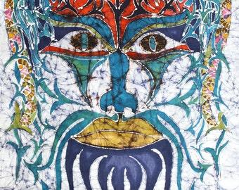 Archetypal Mask   -    print from an original batik painting