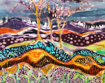 After the Thunderstorm  - detail print from original batik