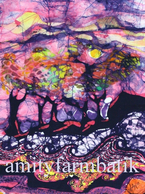 Wind and Waves - Batik Limited edition print