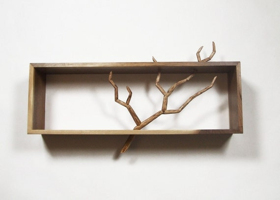 Carved Branch Cabinet - Handmade Sculpture & Functional Art