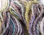80 yards Worsted Weight Merino Silk Hand Painted Hand Spun Yarn in Old Fashioned--3-ply