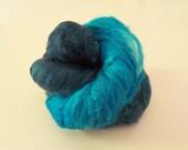 Hand Dyed Silk Fiber Cap - Oceans 11 - 12-9