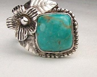 Silver Arizona Kingman Turquiose Ring,
