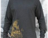 metatrons cube - sacred geometry t-shirt - mens organic long sleeve - s, m, l, xl, 2x, 3x