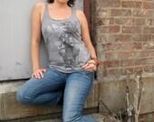 harmony tshirt - graphic ladies tank top - organic recycled - s, m, l, xl