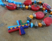Indian  Design Southwest Cross necklace