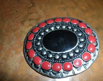 Ladies Vintage Enamel Belt Buckle